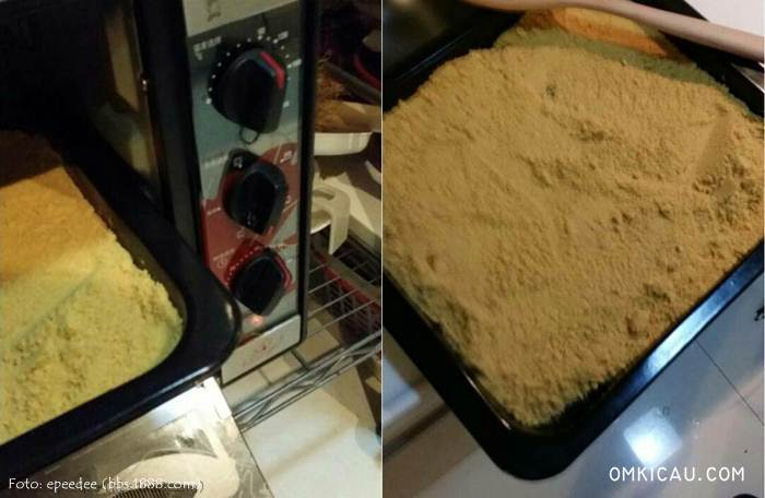 Dikeringkan menggunakan oven selama satu jam