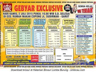 Brosur Latber Gebyar Exclusive BnR Garut, 2 Juli 2015