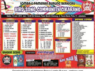 Brosur Latpres Bird Song Community, Cikarang, 13 Juni 2015