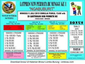 Brosur Latpres New Permata BC Ngabuburit, Sidoarjo, 5 Juli 2015