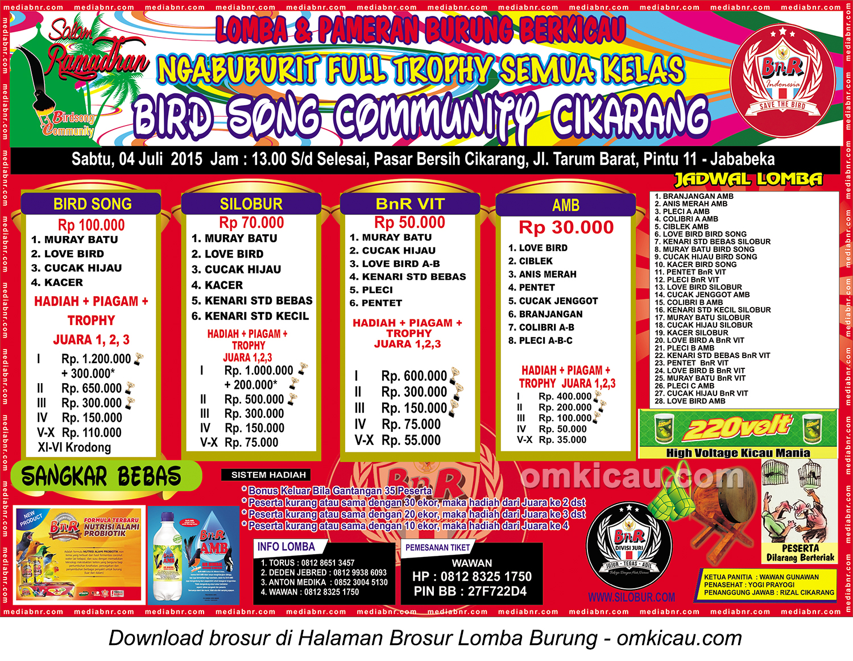 Brosur Latpres Ngabuburit Full Trophy BSC Cikarang, 4 Juli 2015