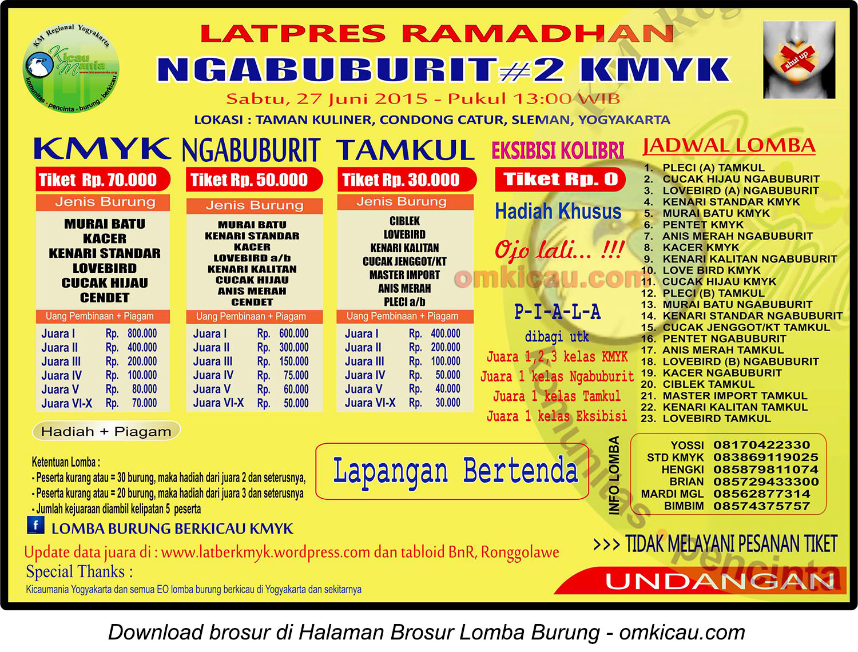 Brosur Latpres Ramadhan Ngabuburit #2 KMYK, Jogja, 27 Juni 2015