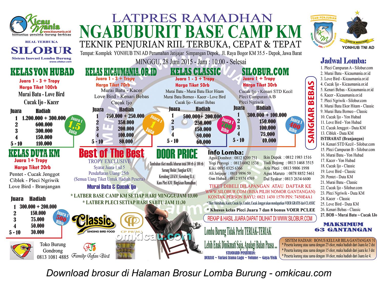 Brosur Latpres Ramadhan Ngabuburit Base Camp KM, Depok, 28 Juni 2015