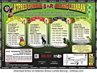 Brosur Latpres Spesial BnR Jelang Lebaran, Mojokerto, 10 Juli 2015
