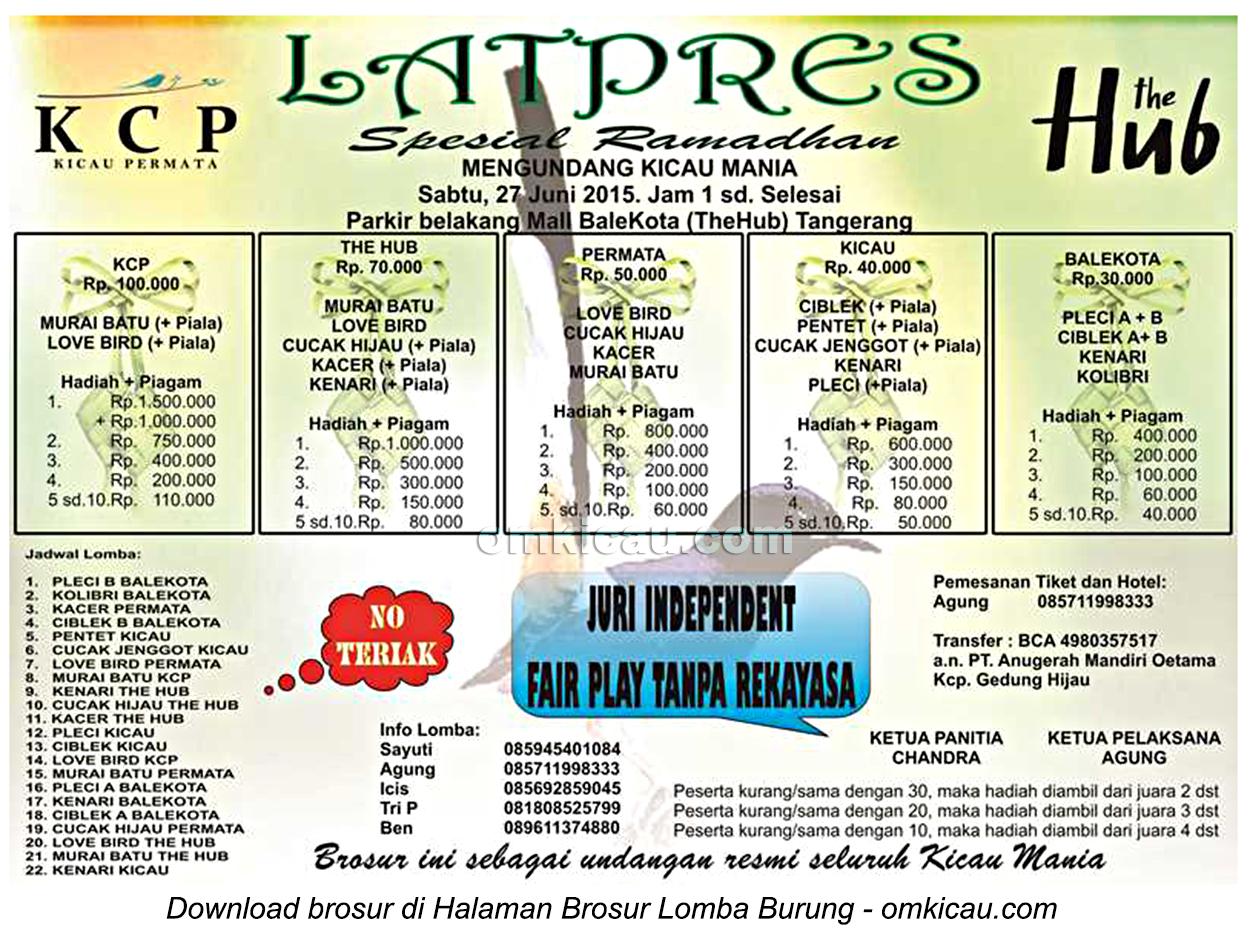 Brosur Latpres Spesial Ramadhan KCP Tangerang, 27 Juni 2015