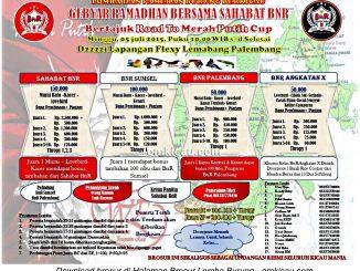Brosur Lomba Burung Berkicau Gebyar Ramadhan Road to Merah Putih Cup, Palembang, 5 Juli 2015