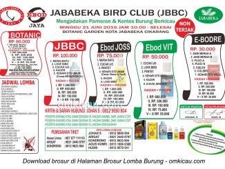 Brosur Lomba Burung Berkicau Jababeka Bird Club, Cikarang, 21 Juni 2015