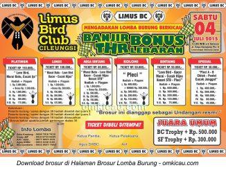Brosur Lomba Burung Berkicau Limus BC Cileungsi, Bogor, 4 Juli 2015