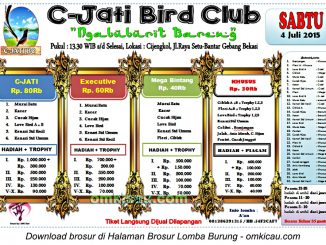 Brosur Lomba Burung Berkicau Ngabuburit Bareng C-Jati Bird Club, Bekasi, 4 Juli 2015