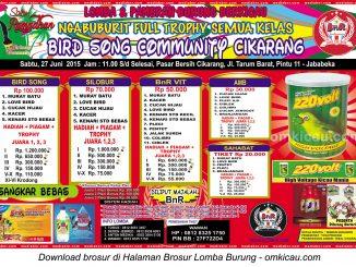Brosur Lomba Burung Berkicau Ngabuburit BSC Cikarang, 27 Juni 2015