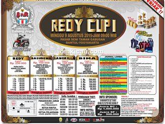 Brosur Lomba Burung Berkicau Redy Cup I, Jogja, 9 Agustus 2015