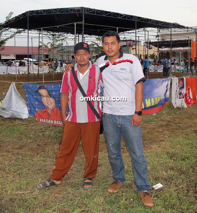 Ketua Pelaksana Om Warso (kiri) dan Ketua Panitia Om Jhoni Rismal ST