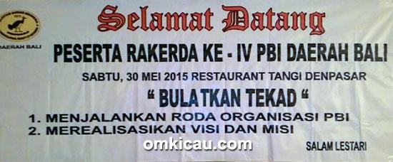 Spanduk Rakerda PBI Pengda Bali