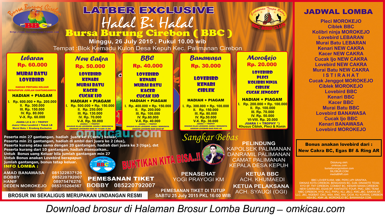 Brosur Latber Halal Biihalal BBC, Cirebon, 26 Juli 2015