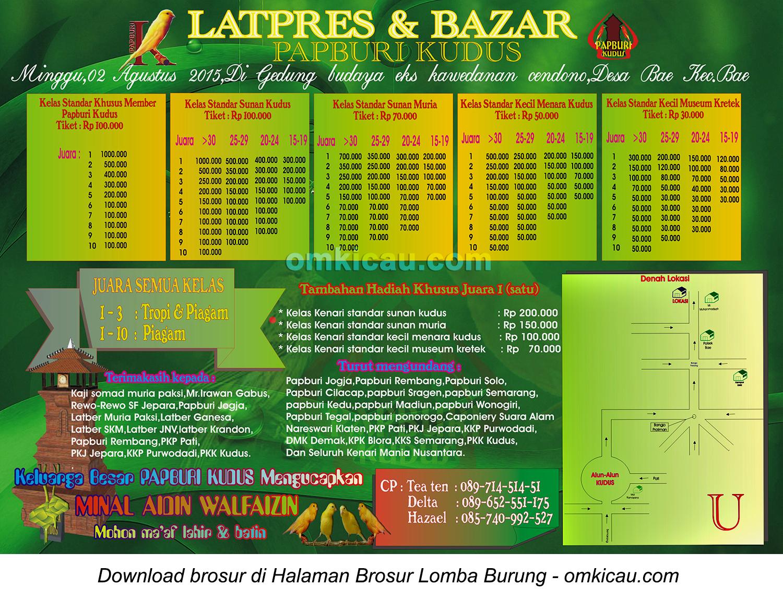 Brosur Latpres dan Bazar Papburi Kudus, 2 Agustus 2015