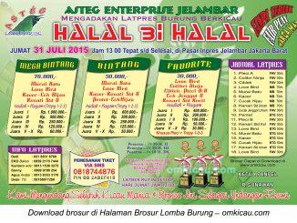 Brosur Latpres Halal Bihalal Asteg Enterprise, Jakarta, 31 Juli 2015