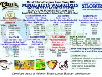 Brosur Latpres Halal Bihalal - Base Camp KM Depok, 2 Agustus 2015