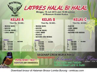 Brosur Latpres Halal Bihalal Muria Paksi, Kudus, 19 Juli 2015