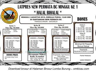 Brosur Latpres Halal Bihalal New Permata BC, Sidoarjo, 2 Agustus 2015