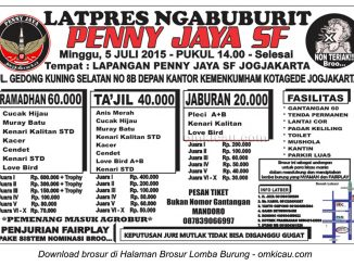 Brosur Latpres Ngabuburit Penny Jaya SF, Jogja, 5 Juli 2015