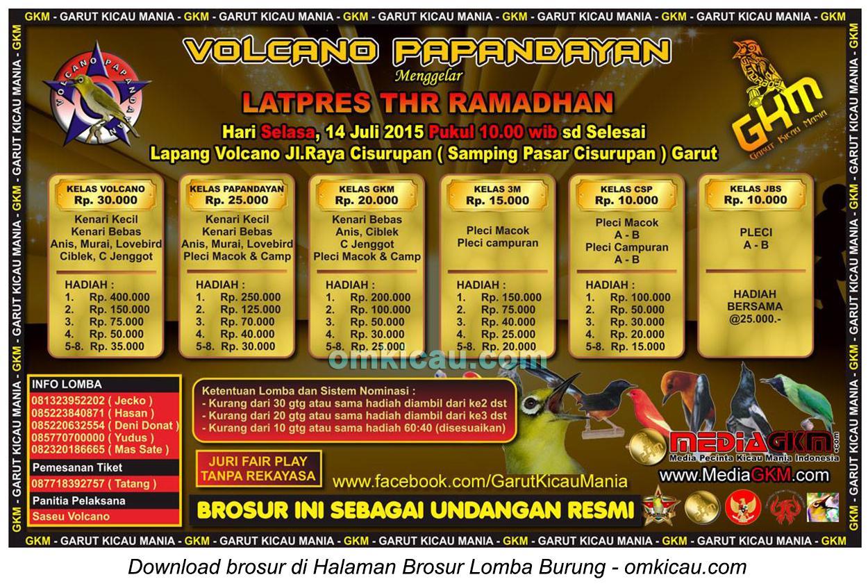 Brosur Latpres THR Ramadhan Volcano Papandayan, Garut, 14 Juli 2015