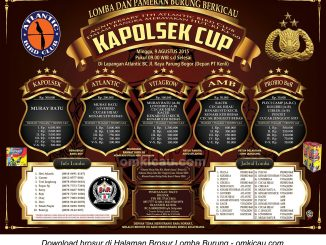 Brosur Lomba Burung Berkicau Kapolsek Cup, Bogor, 9 Agustus 2015