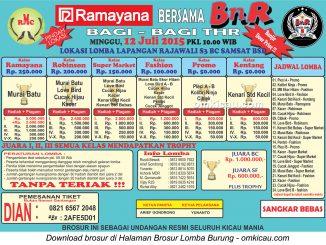 Brosur Lomba Burung Berkicau Ramayana-BnR Bagi-Bagi THR, Tangerang Selatan, 12 Juli 2015