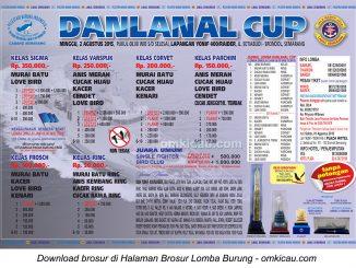 Brosur Revisi Lomba Burung Berkicau Danlanal Cup, Semarang, 2 Agustus 2015