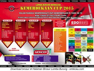 Brosur Revisi Lomba Burung Berkicau Kemerdekaan Cup-Perwira Team, Sukoharjo, 16 Agustus 2015