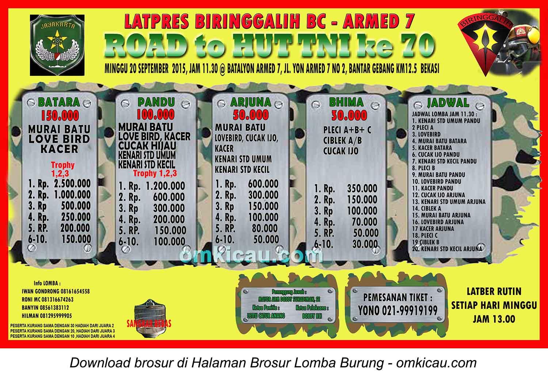 Brosor Latpres Biringgalih BC - Road to HUT TNI Ke-70, Bekasi, 20 September 2015