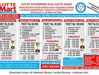 Brosur Latpres Burung Berkicau Lotte Enterprise, Cikarang, 6 September 2015