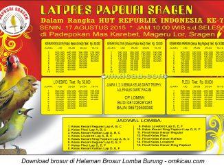 Brosur Latpres HUT RI Ke-70 - Papburi Sragen, 17 Agustus 2015