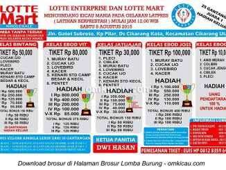 Brosur Latpres Lotte Enterprise, Cikarang, 8 Agustus 2015