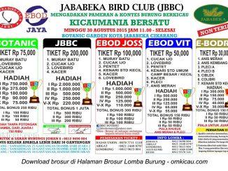 Brosur Lomba Burung Berkicau Jababeka Bird Club, Cikarang, 30 Agustus 2015