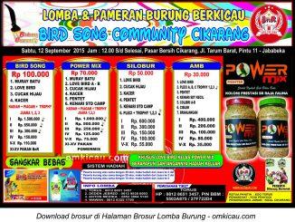 Brosur Latpres Bird Song Community Cikarang, 12 September 2015