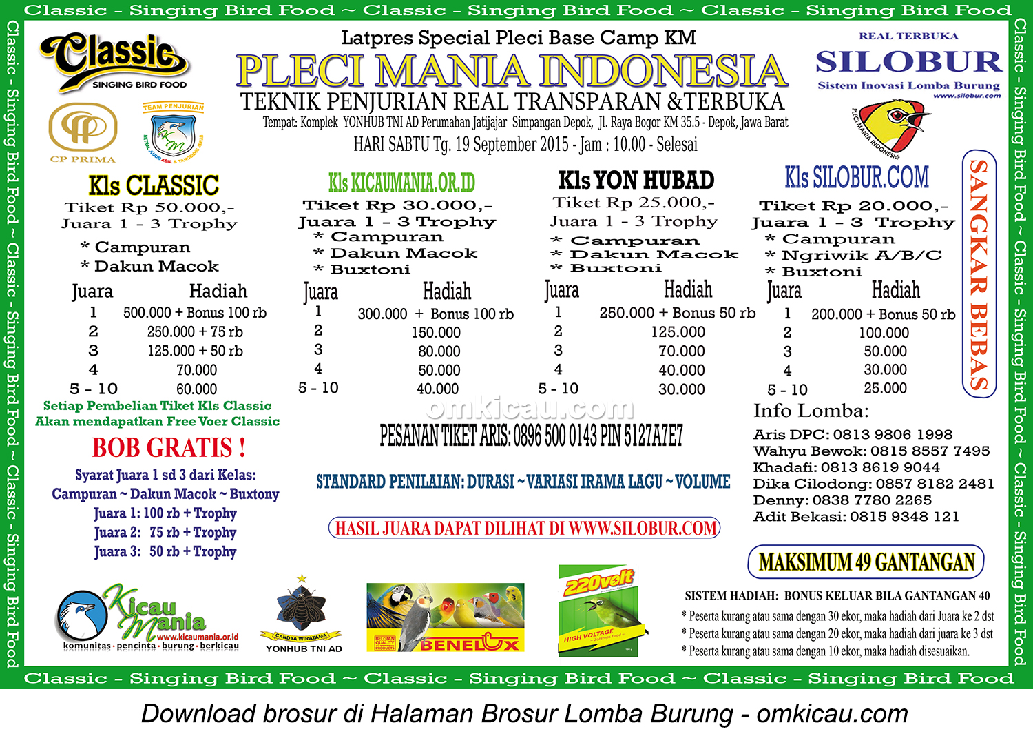Brosur Latpres Special Pleci Base Camp KM - Pleci Mania Indonesia, Depok, 19 September 2015