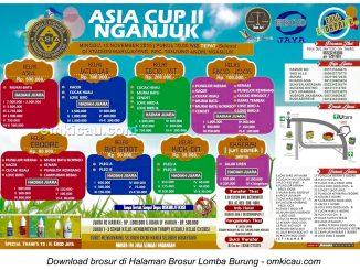 Brosur Lomba Burung Berkicau Asia Cup II Nganjuk, 15 November 2015