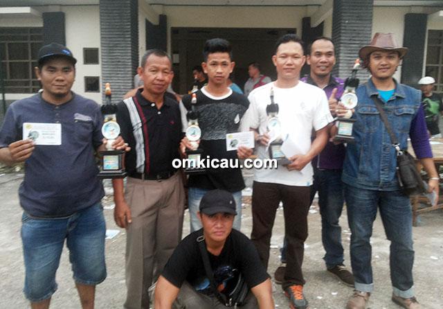 Para pemilik burung terbaik di Melawen BC Cup II