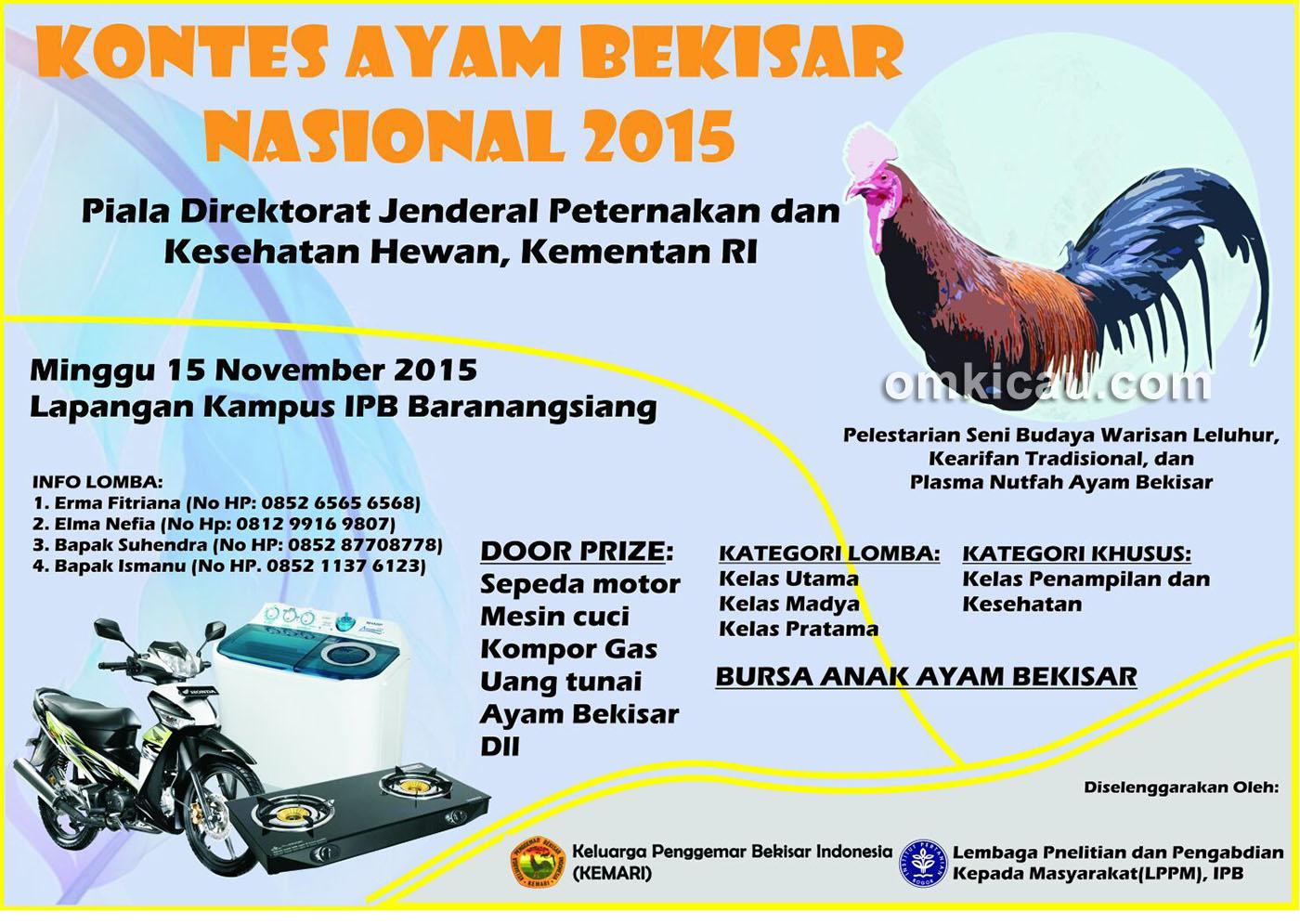 Brosur Kontes Ayam Bekisar TingkatNasional, IPB Bogor, 15 November 2015