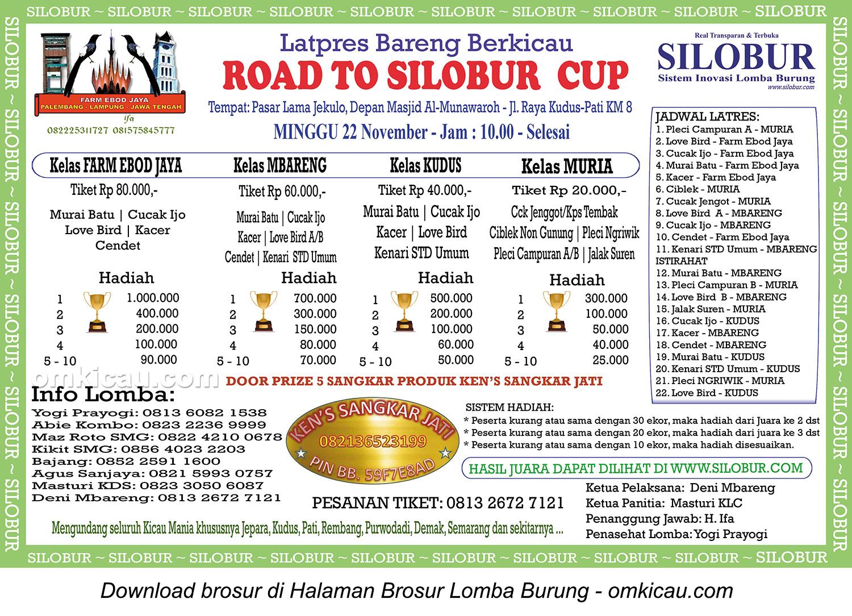 Brosur Latpres Bareng Road to Silobur Cup, Kudus, Minggu 22 November 2015
