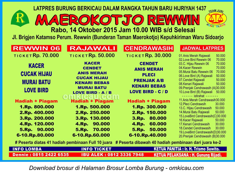 Brosur Latpres Tahun Baru Hijriyah Maerokotjo Rewwin, Sidoarjo, 14 Oktober 2015