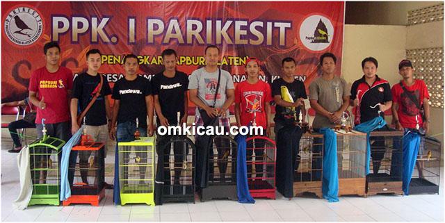 Kontes kenari PPK-1 Parikesit Klaten