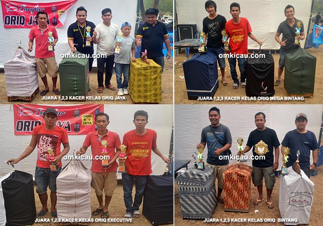 Para juara kacer Oriq Jaya Cup