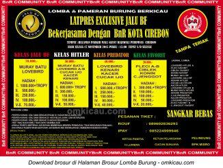 Brosur Latpres Exclusive Jalu BF Cirebon, 17 November 2015