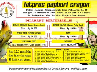 Brosur Latpres Papburi Sragen Hari Pahlawan, 15 November 2015