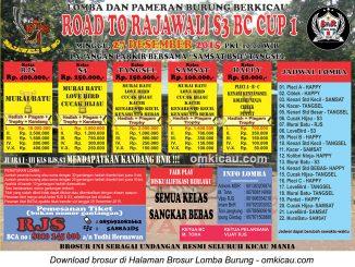 Brosur Lomba Burung Berkicau Road to Rajawali S3 BC Cup 1, Tangerang Selatan, 27 Desember 2015