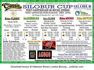 Brosur revisi Lomba Burung Berkicau Road to Silobur Cup, Jepara, 6 Desember 2015