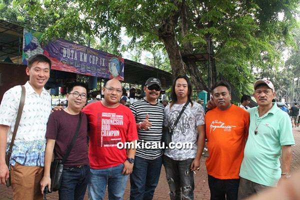 Jayakarta Cup – Sejumlah tokoh lintas blok (dari kiri) Dedi JBi, Daniel PIK, Fredy, Edy PLN, Billy Kebumen