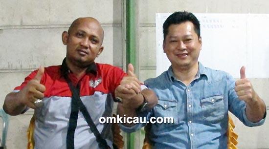 Ketua dan wakil ketua Jambi Team