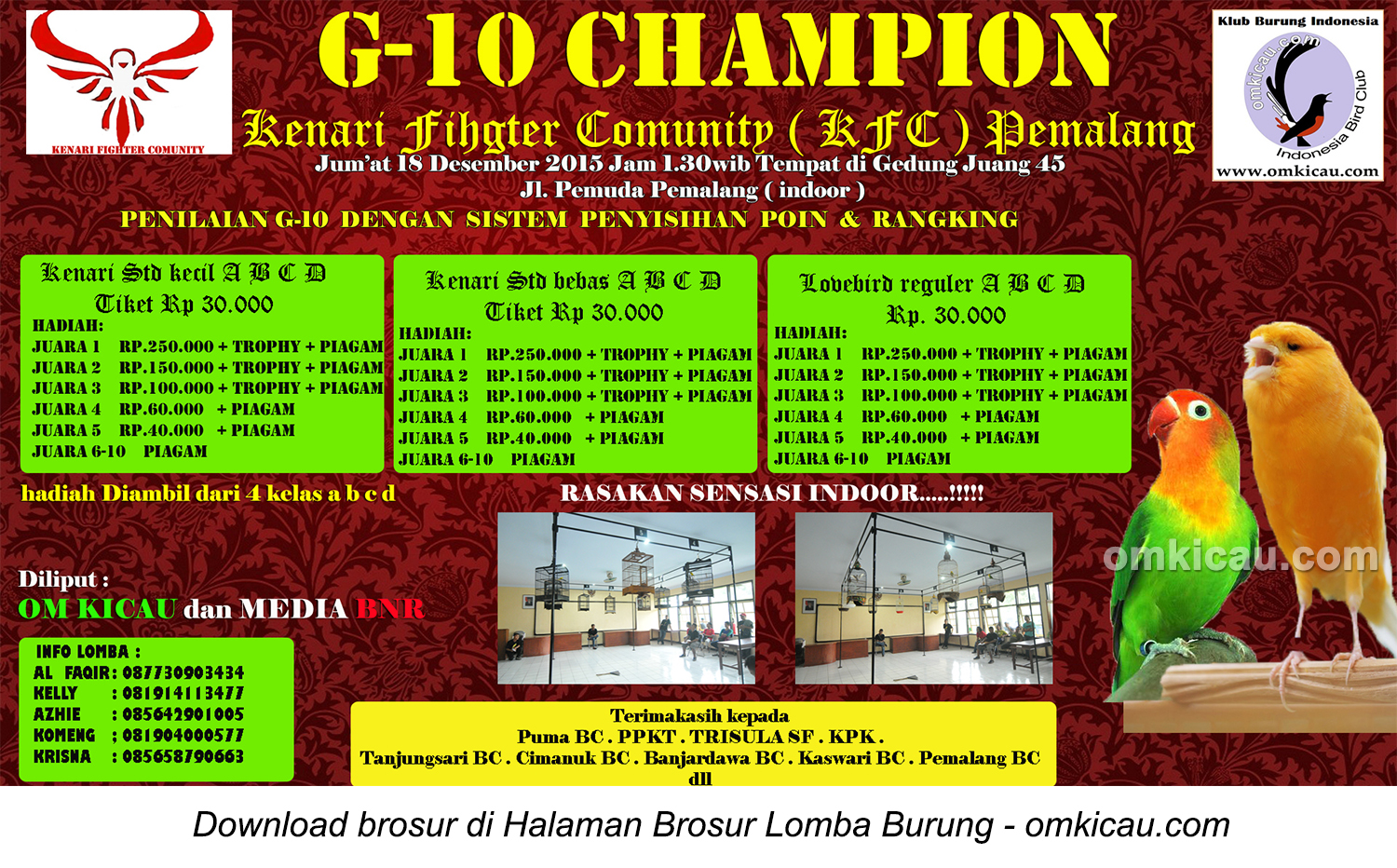 Index Of Wp Content Uploads 2015 12 Sonic 150r Energetic Red Pemalang Brosur Latber Burung Berkicau G 10 Champion Kfc 18 Desember